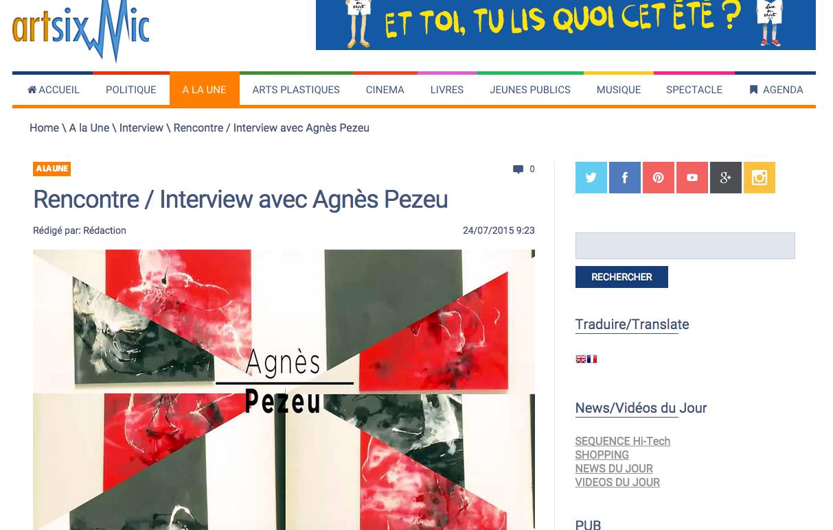 Agnes Pezeu Artsixmic Juillet 2015