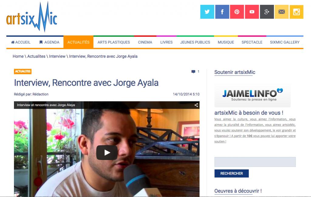 Artsixmic Jorge Ayala ITW 14:10:2014