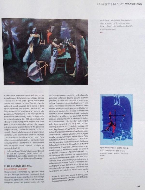 Gazette de Drouot Agnes Pezeu juillet 2014
