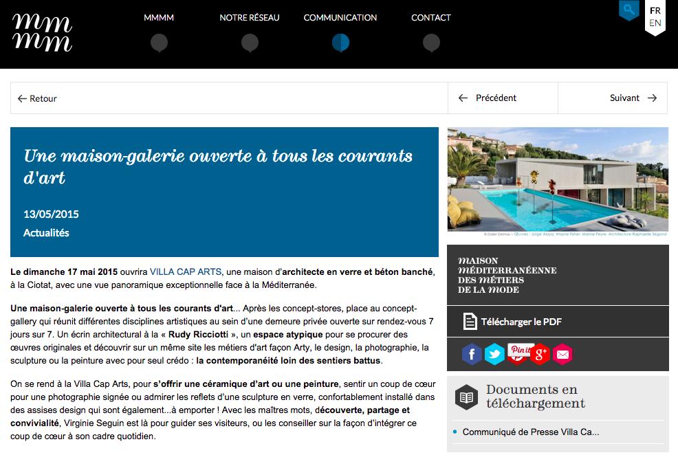 Maison Méditerranéenne des Métiers de la Mode