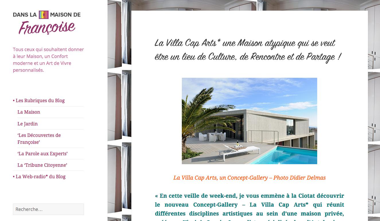 Villa Cap Arts Dans La Maison de Francoise