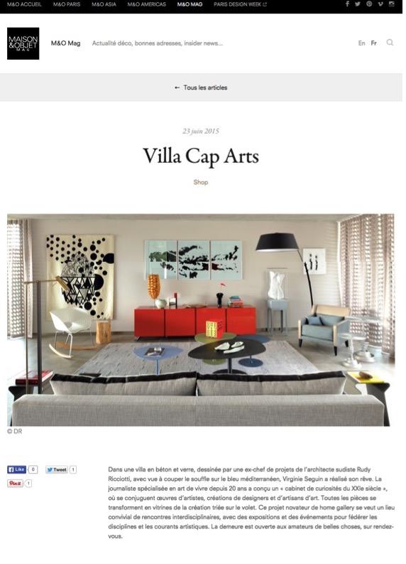Villa Cap Arts M&O juin 20151