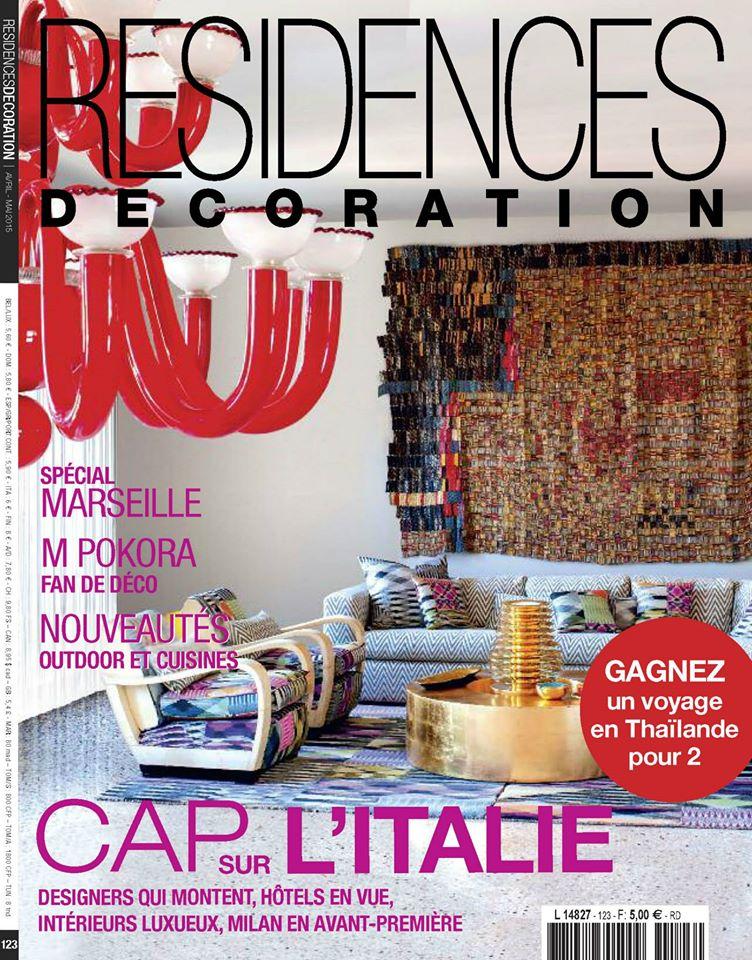 Villa Cap Arts rubrique City Guide spécial Marseille du magazine Résidences Décoration Avril - Mai 2015